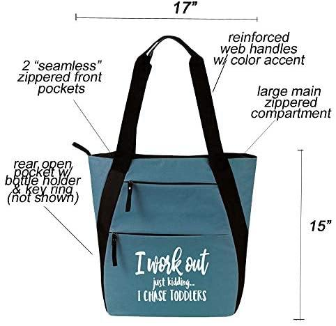 Large Cute Zippered Canvas Tote Bag(more designs) - Shop Ja'Kai