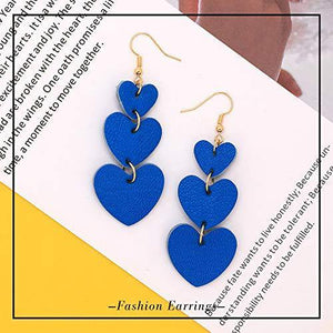 Leather Heart Earrings - Shop Ja'Kai