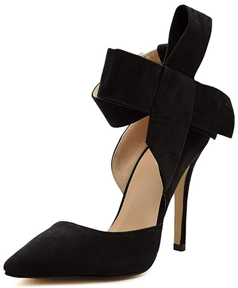 Bianca Pointy Toe High Heel Stiletto Big Bow Pumps - Shop Ja'Kai