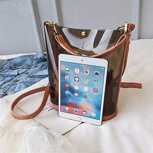 Semi-clear PVC Jelly Transparent Shoulder Bag (2 In 1 Bag)