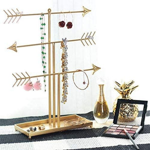 3 Tier Gold Metal Jewelry Organizer Tower - Shop Ja'Kai