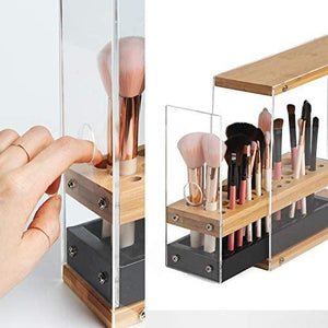 Acrylic Bamboo Makeup Brush Holder - Shop Ja'Kai