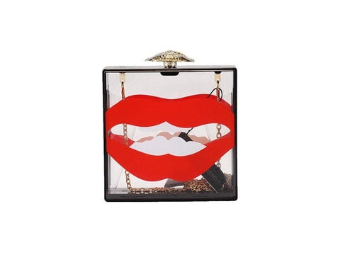 Sexy Lips Box Clutch