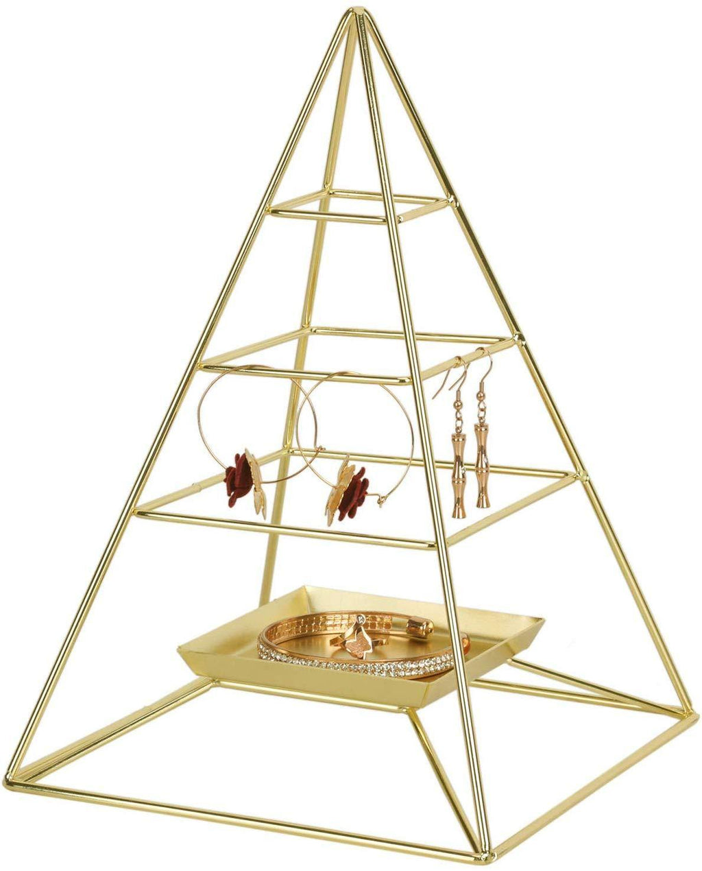 3 Tier Pyramid Hanging Jewelry Organizer - Shop Ja'Kai