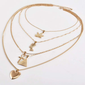 Multi Layer Queen Necklace - Shop Ja'Kai