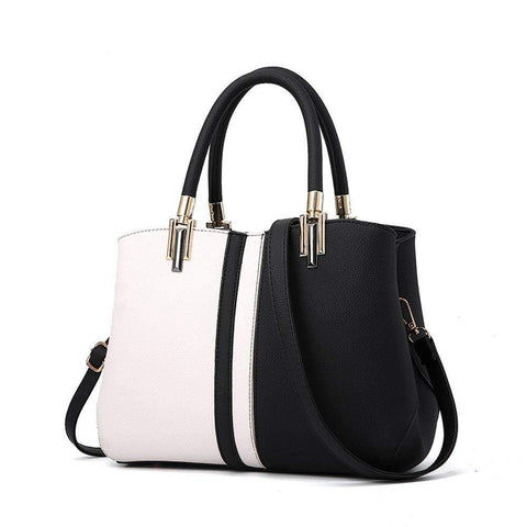 Two Tone Satchel Tote