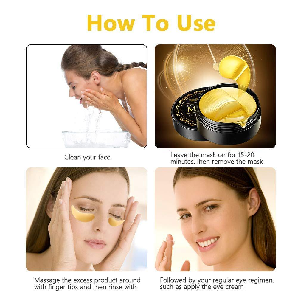 24k Gold Eye Mask-with Collagen Under Eye Patches