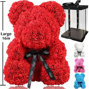Rose Flower Bear -16in