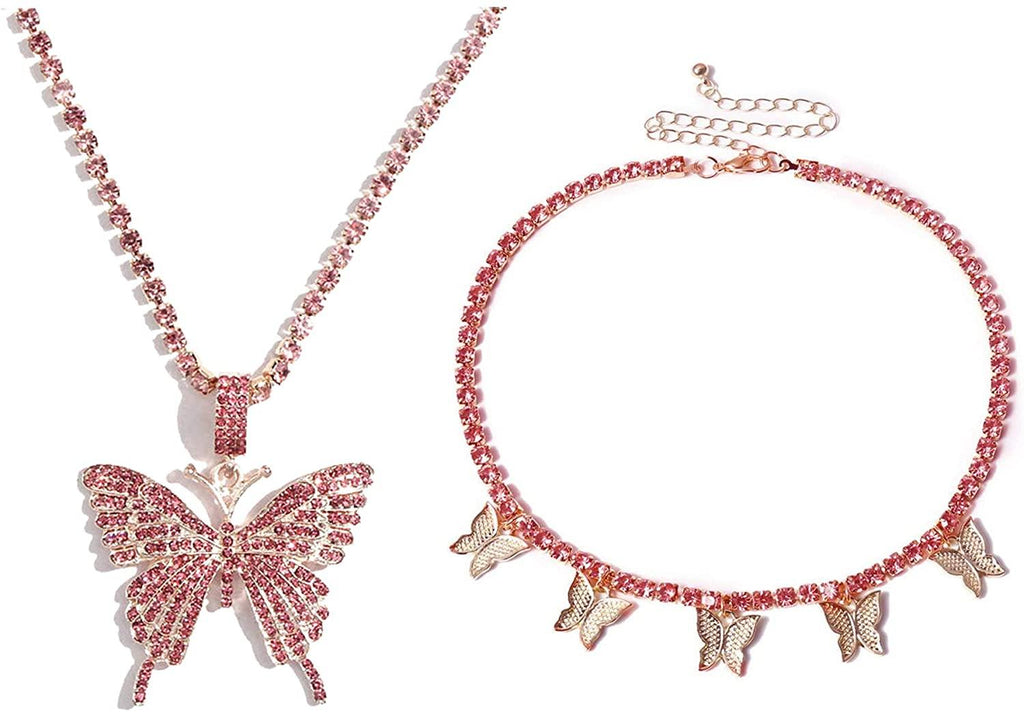 Butterfly Necklace Tennis Link Chain - Shop Ja'Kai