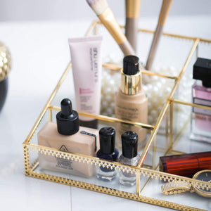 Gold Cosmetic Organizer