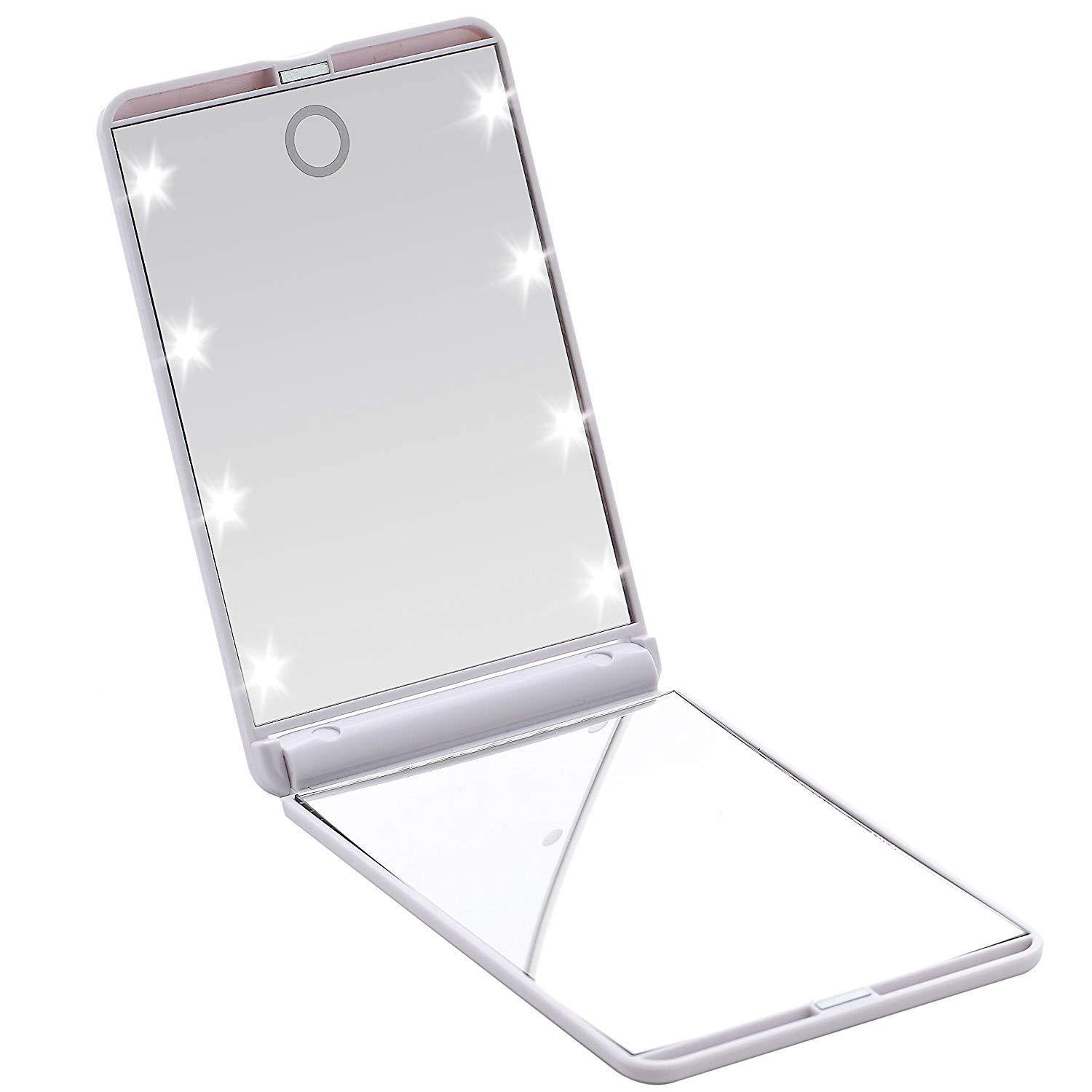 LED Light Compact Mirror