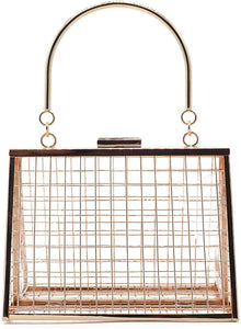 Metal Hollow Cage Clutch - Shop Ja'Kai