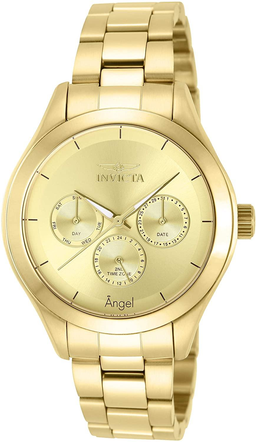 Angel Gold-Tone Stainless Steel Watch