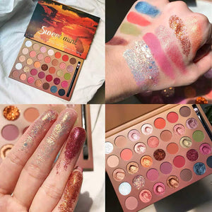 35 Colors Glitter Eyeshadow Palette