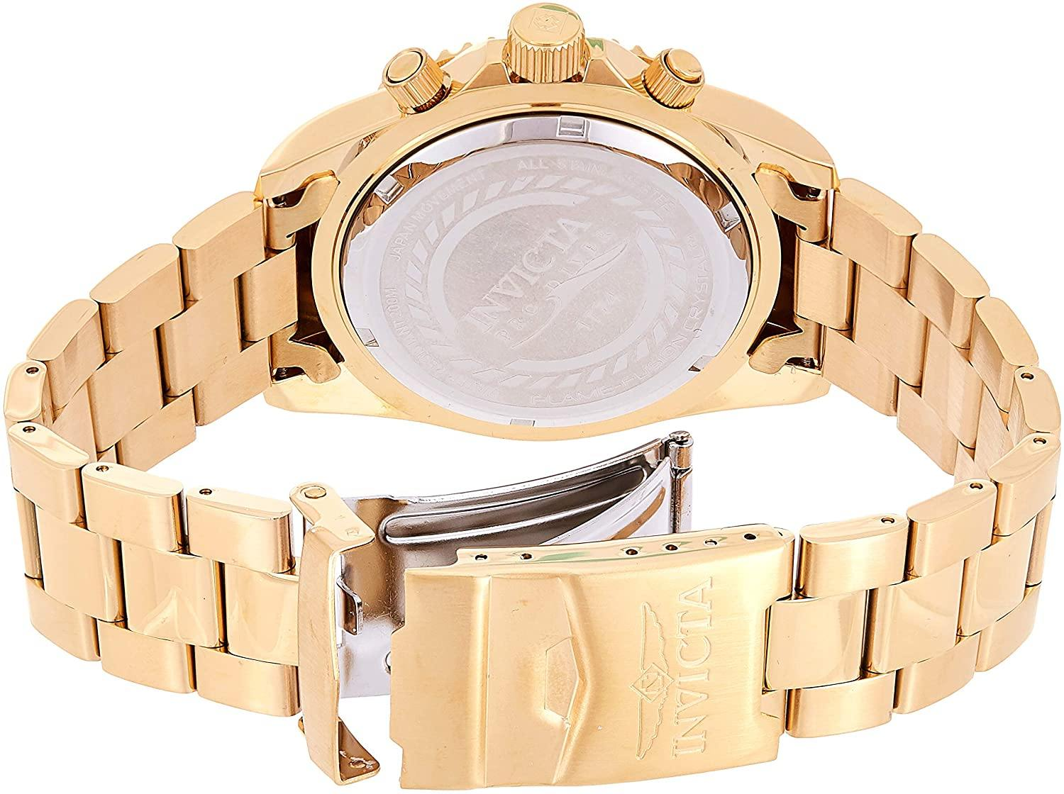 8k Gold Ion-Plated Stainless Steel Watch
