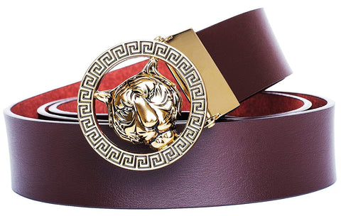 Tiger Buckle 35-mm Italian Leather Belt
