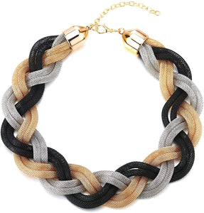 Braided Hollow Cable Necklace