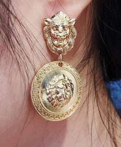 Lion Head Earrings - Shop Ja'Kai