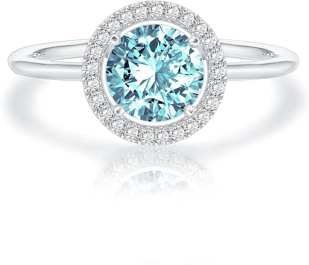 Swarovski Crystal 14K White Gold Plated Birthstone Ring - Shop Ja'Kai