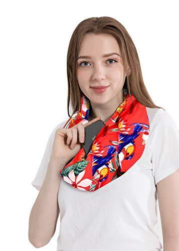 Pattern Infinity Loop Scarf with Hidden Zipper Pocket - Shop Ja'Kai