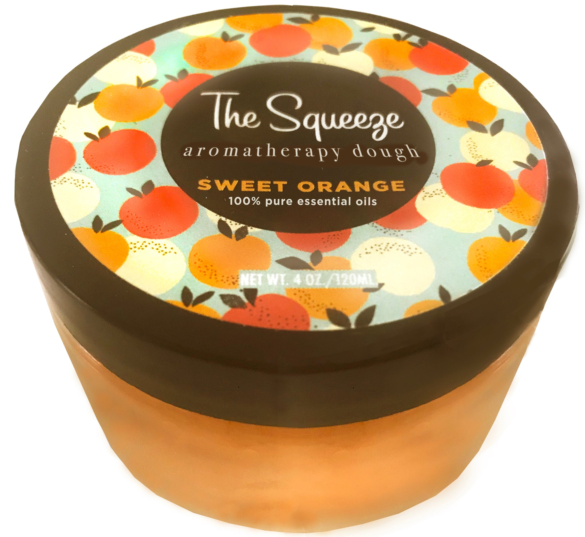 The Squeeze - Sweet Orange 100% essential oil stress relief dough for self care, aromatherapy stress ball FREE SHIPPING