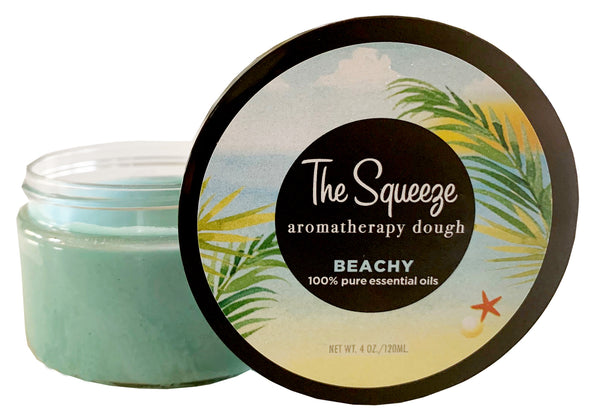The Squeeze Therapy Dough- Beachy — Neroli, Citrus & Floral aromatherapy dough for self care, stress ball, self care FREE SHIPPING