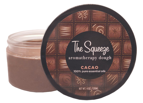 The Squeeze Therapy Dough- 100% Cacao Chocolate stress relief for self care, aromatherapy stress ball, relief for self care