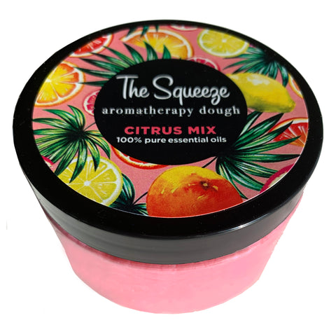 The Squeeze - Therapy Dough Citrus Mix with 100% essential oils for self care, aromatherapy stress ball, stress relief