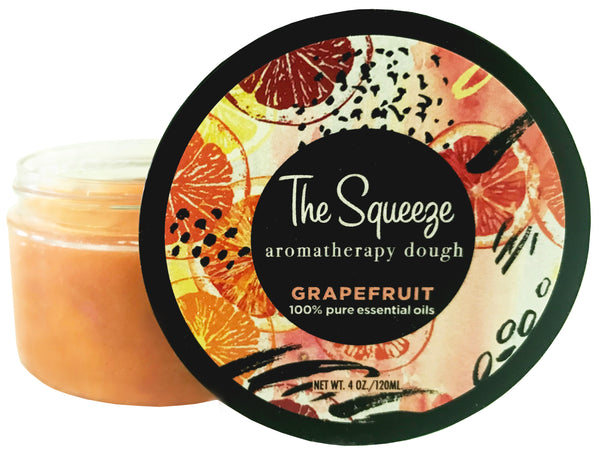 The Squeeze Therapy Dough - Grapefruit 100% essential oil stress relief dough for self care, aromatherapy stress ball, stress relief FREE SHIPPING