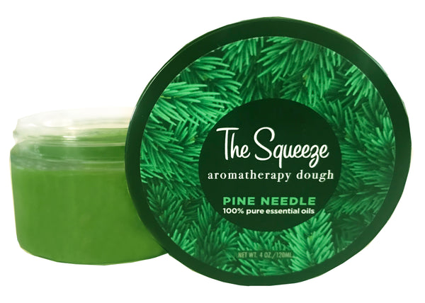 The Squeeze - Pine Needle 100% essential oil stress relief therapy dough for self care, aromatherapy stress ball, stress relief