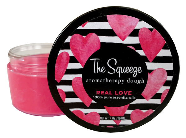 "The Squeeze Therapy Dough- ""Real Love"" Floral, Citrus & Sandalwood aromatherapy dough for self care, stress ball, self care FREE SHIPPING"