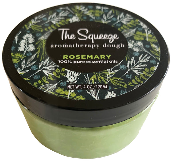 The Squeeze - Rosemary 100% essential oil stress relief therapy dough for self care, aromatherapy stress ball, stress relief FREE SHIPPING