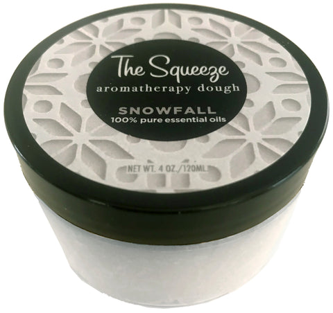 The Squeeze - Snowfall 100% essential oils stress relief therapy dough for self care, aromatherapy stress ball, stress relief FREE SHPPING