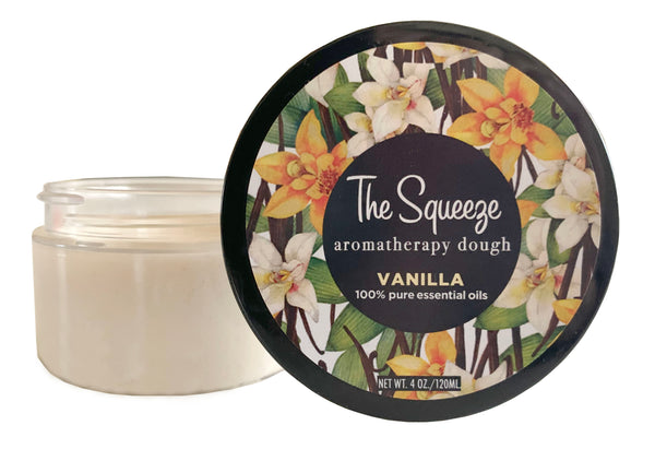 The Squeeze - Vanilla 100% essential oil Therapy Dough for self care, aromatherapy stress ball, stress relief FREE SHIPPING