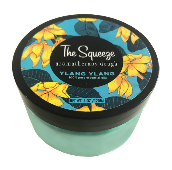 The Squeeze - Ylang Ylang 100% essential oil stress relief dough for self care, aromatherapy stress ball, stress relief FREE SHIPPING