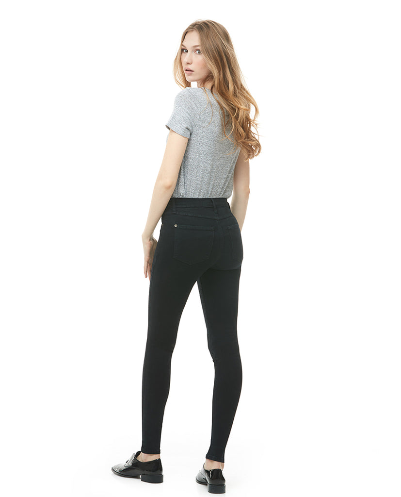 Classic Rise Rachel Skinny Jeans Pitch Black Yoga Jeans