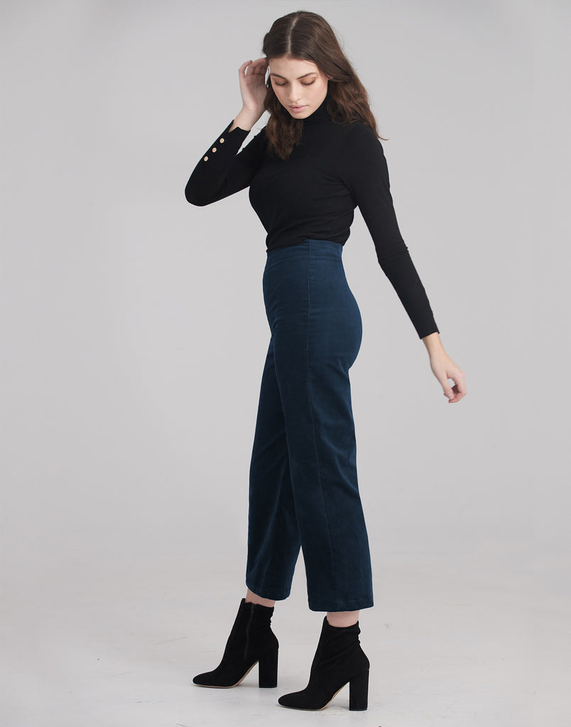LILY WIDE LEG CORDUROY / Deep Royal