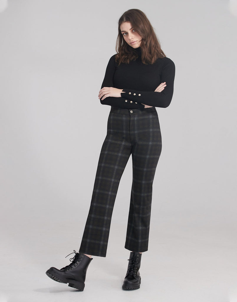 CHLOE STRAIGHT JEANS / Honey Plaid