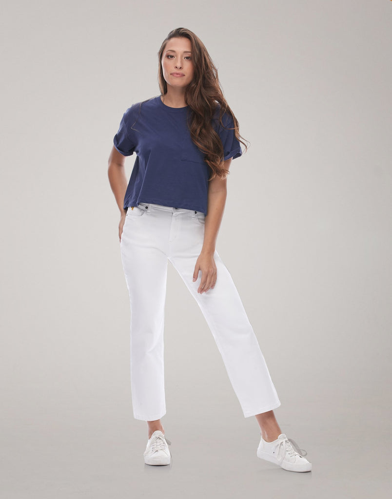 CHLOE STRAIGHT JEANS / White
