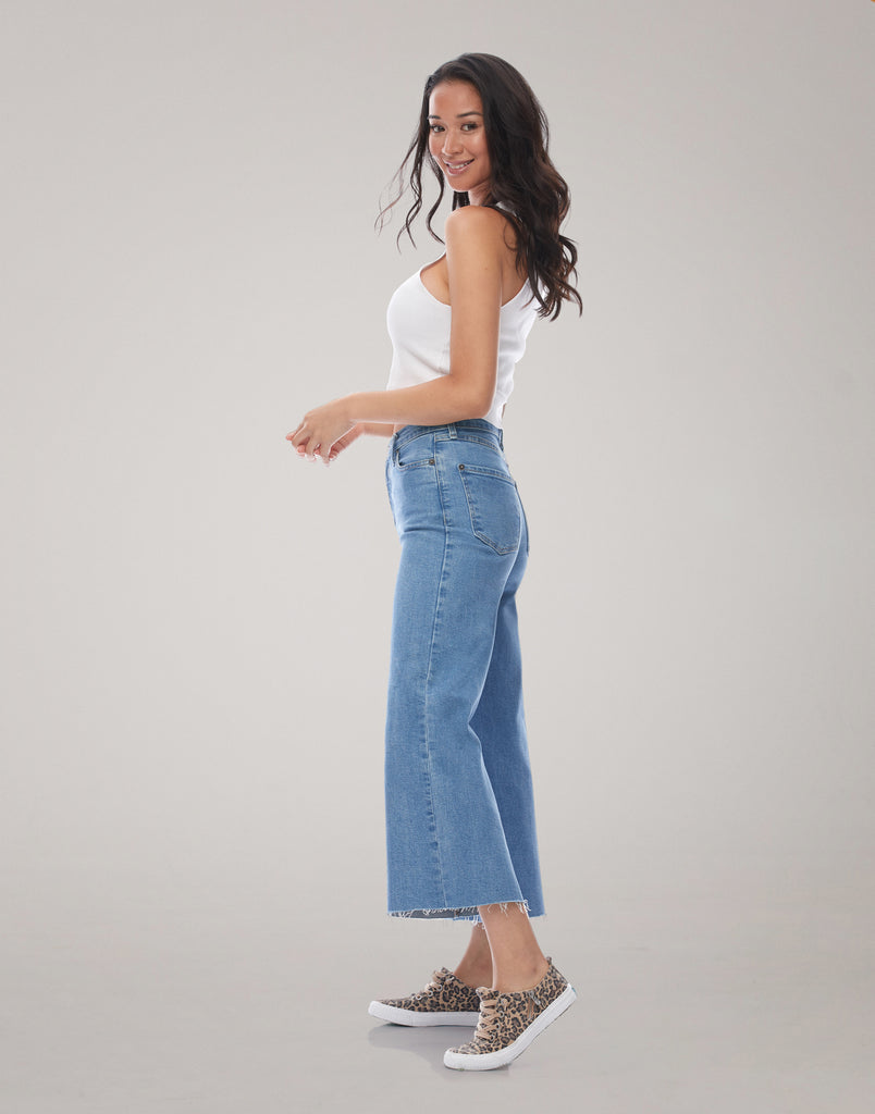 LILY WIDE LEG JEANS / Steam