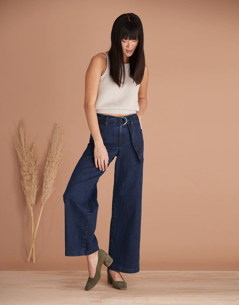 High Rise Lily Wide Jeans Cosmo Yoga Jeans