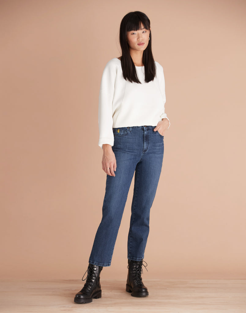 High Rise Chloe Straight Jeans Wise Yoga Jeans