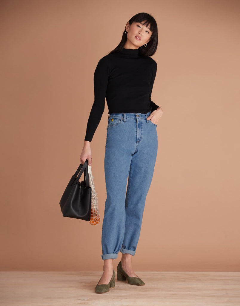 High Rise Malia Relaxed Jeans Balloon Fit harlow Yoga Jeans
