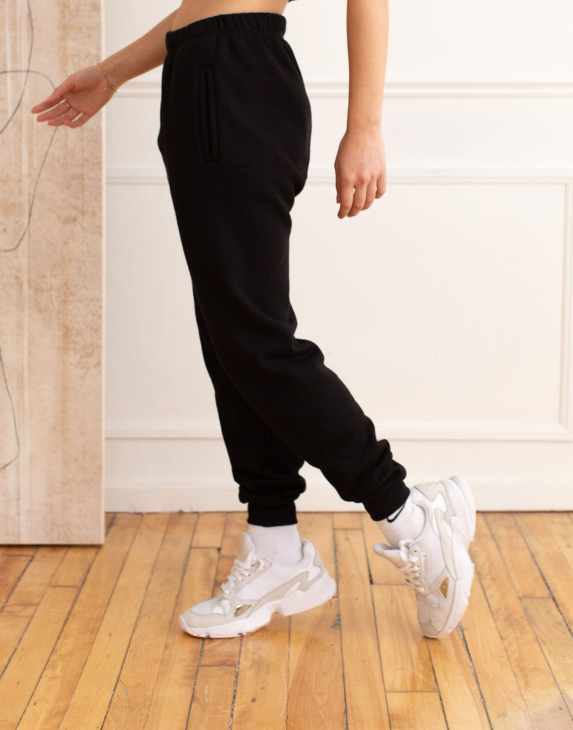 Black Jogger Active Collection Yoga Jeans