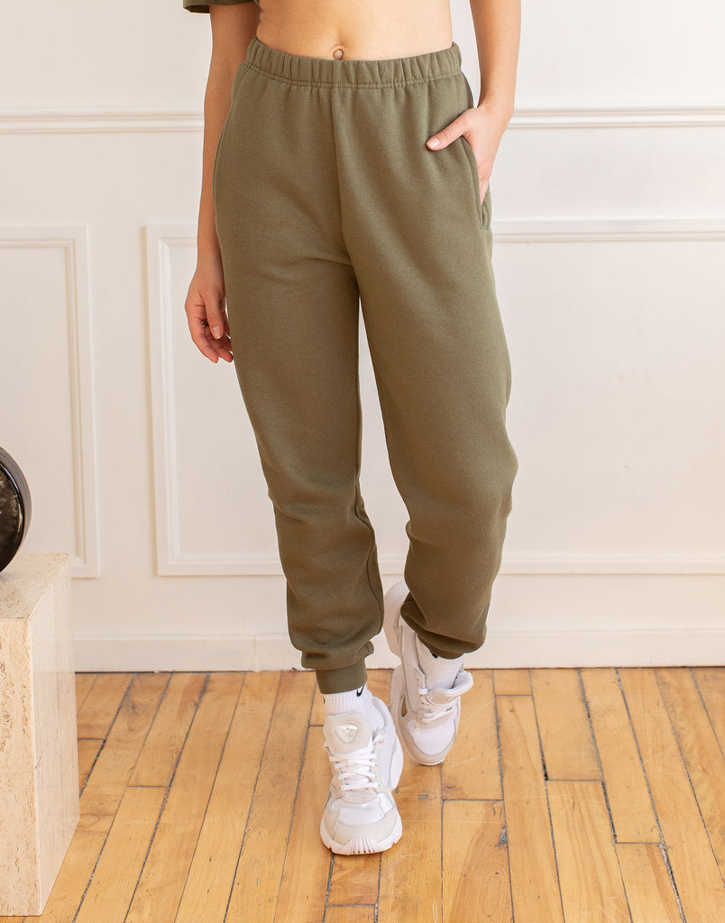 Green Khaki Jogger Active Collection Yoga Jeans