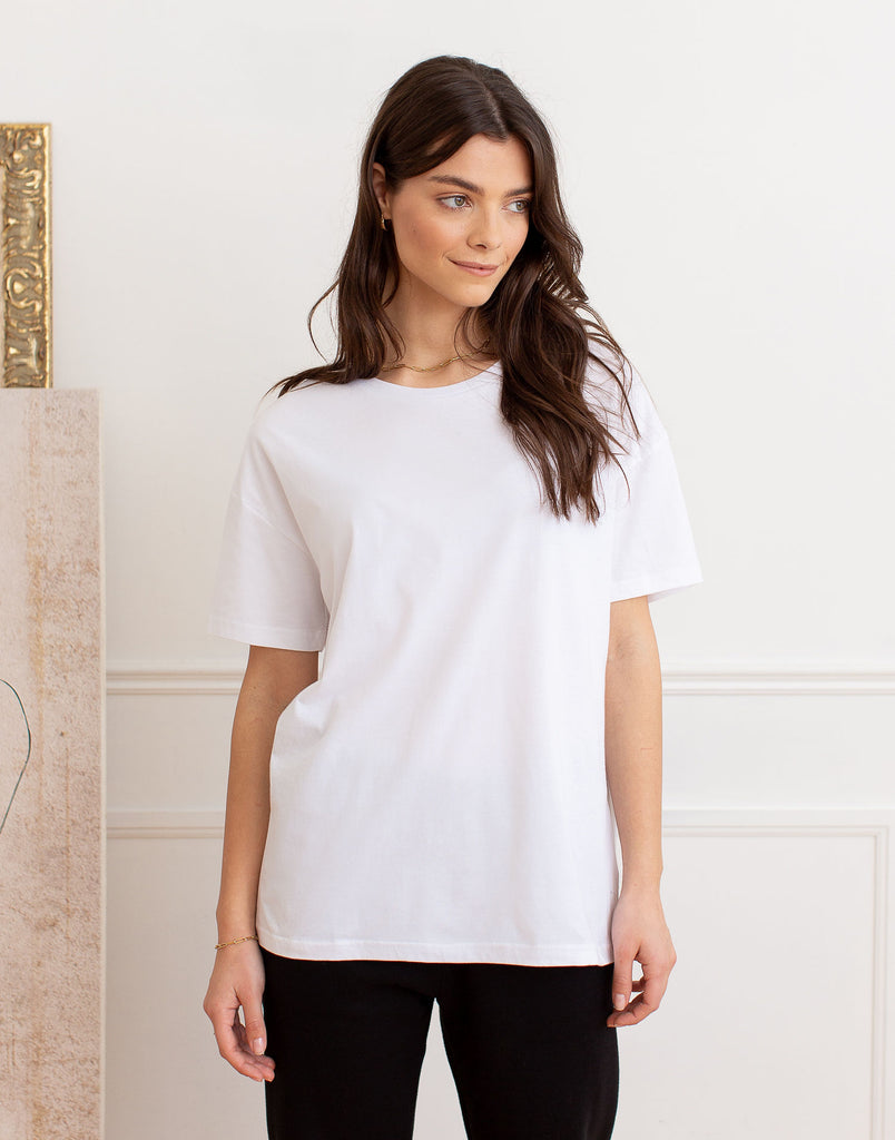 OVERSIZED BOYFRIEND TEE / WHITE