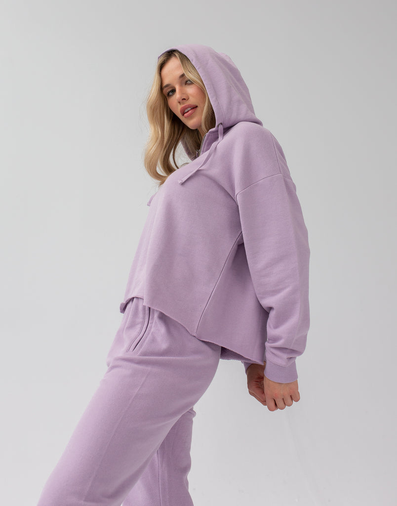 Lavender Crop Hoodie Zip Active Collection Yoga Jeans