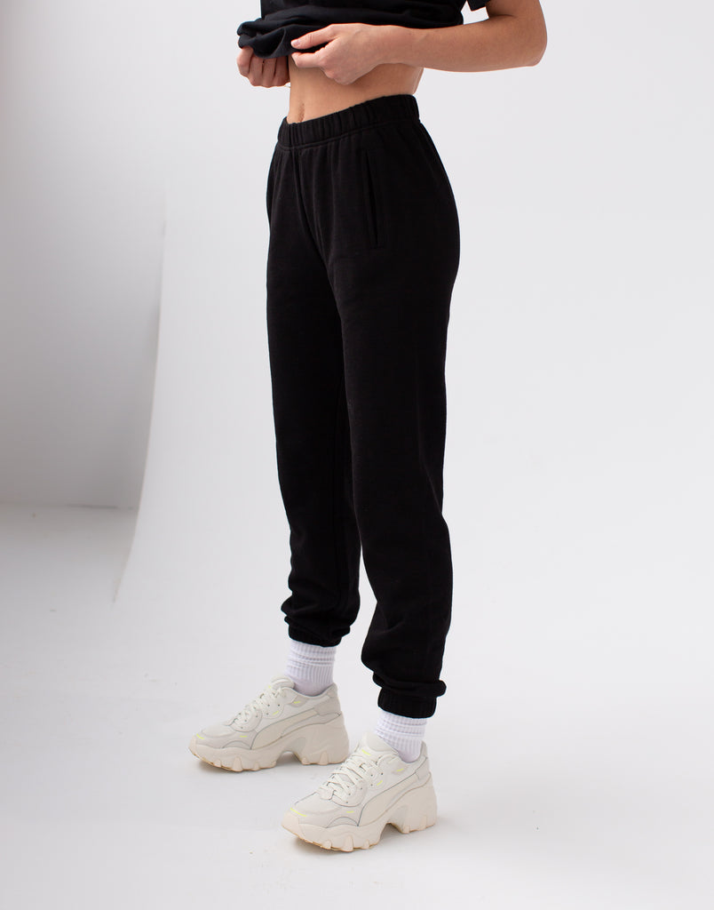 Black Lightweight Jogger Active Collection Yoga Jeans