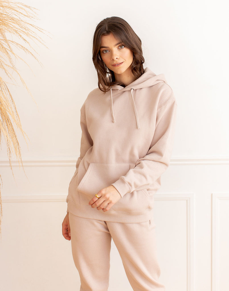 OVERSIZED BOYFRIEND HOODIE / DUSTY ROSE