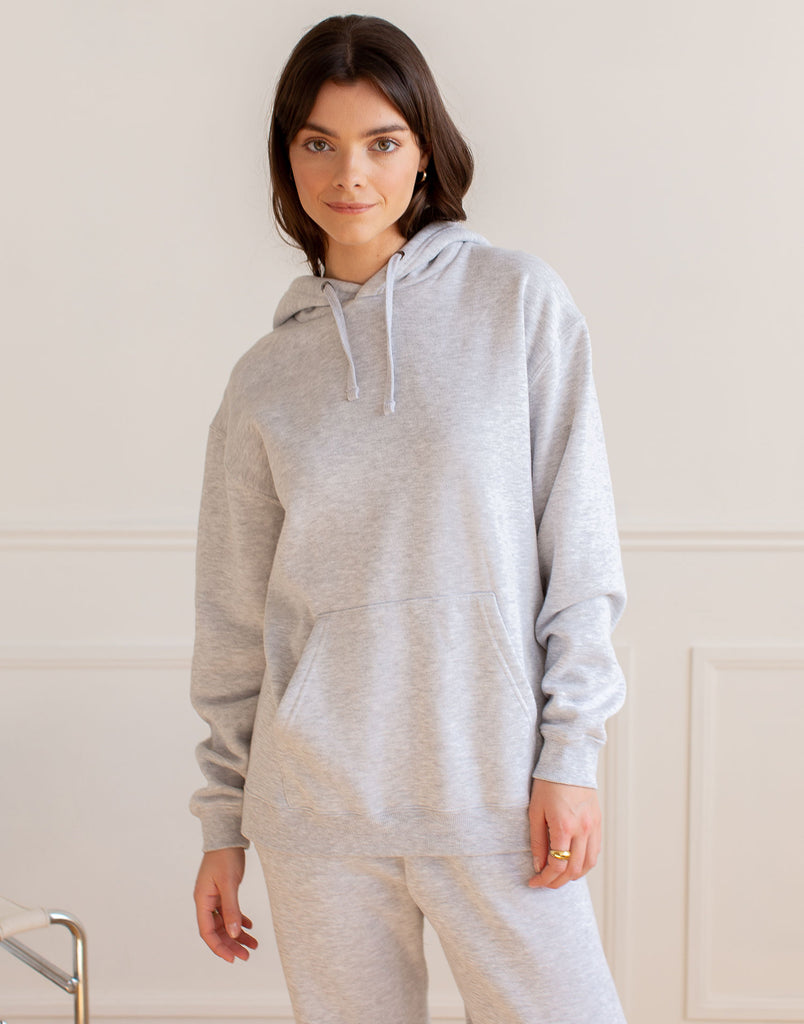 OVERSIZED BOYFRIEND HOODIE / GREY MIX